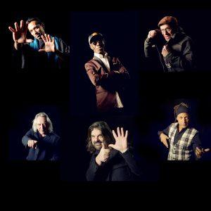Les 6 membres du groupe Sixun sur un visuel
